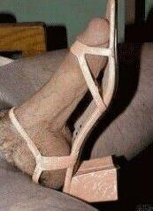 Penis in the shoe